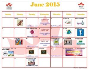 June Calendar 2015 s