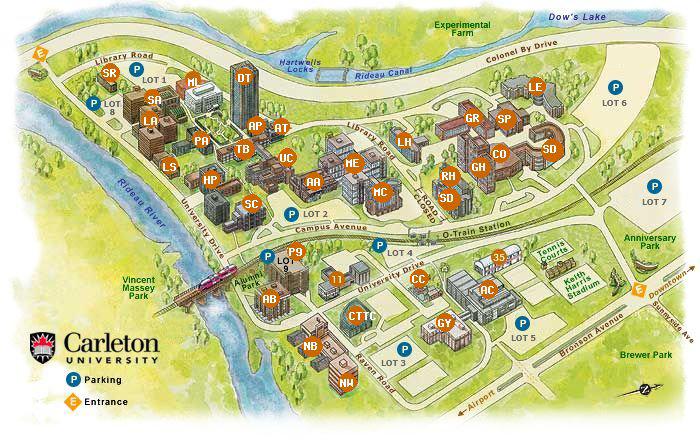 カールトン大学キャンパス地図